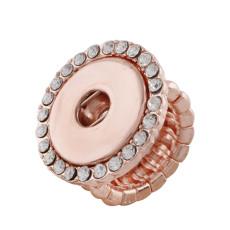 verstellbarer Roségold-Ring mit Druckknöpfen für 20mm Druckknöpfe Größe 2cm