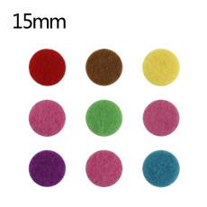 Tranches de parfum éponge 10pcs 15mm fit parfum Snap locket 22mm MIX couleurs
