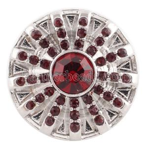 20MM snap Jan. birthstone rojo oscuro KC5059 broches intercambiables joyería