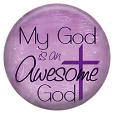 20MM God Painted enamel metal C5118 print purple