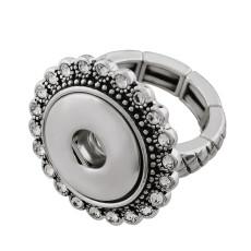 bouton pression réglable anneau avec strass ajustement 18mm morceaux de taille instantanée 2cm