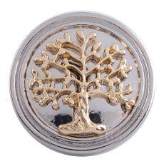 20MM Snap tree Bijoux à bijoux interchangeables KC5200 plaqués argent et or