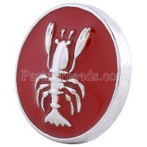 20MM Lobster snap Посеребренная с красной эмалью KC6134 оснастка ювелирные изделия
