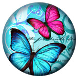 20MM butterfly Painted enamel metal snaps C5077 print snaps jewelry