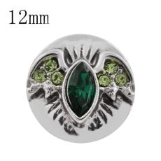 12MM Halloween Wing Snap mit grünem Strass KS5158-S Halloween Fledermaus