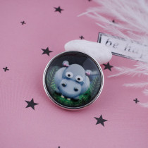 20MM snap glass Hippo C0885 broches intercambiables joyas
