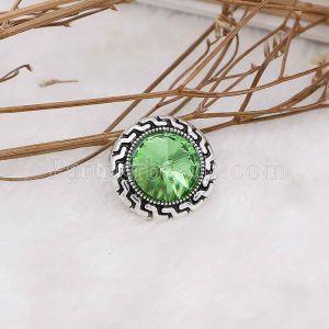 20MM оснастка Август. Камень зеленый KC6581 сменные защелки ювелирные изделия