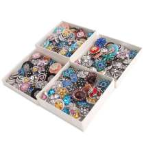 50pcs / lot Boutons-pressions 20mm Big Crystal & types de mixeur concepteur MixMix couleurs