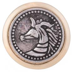 20MM Horse Snap Antik vergoldet KB6283 Snaps Schmuck