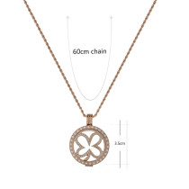 33 mm Stainless steel Coin Locket Pendant set with 60cm stainless steel chain