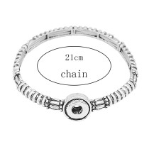 1 buttons snap sliver bracelet fit 12MM snaps jewelry KS1238-S