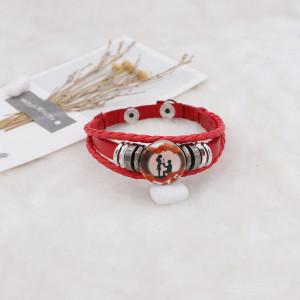 20MM Saint Valentin émail peint métal impression C5628 s'encliquette bijoux
