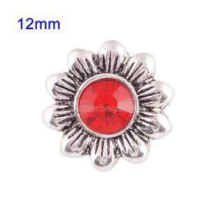 Broches 12mm de tamaño pequeño con diamantes de imitación rojos para joyas en trozos