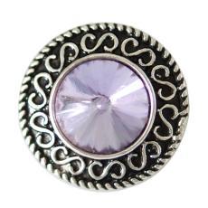 20MM Круглая защелка Античное серебро с покрытием из фиолетового горного хрусталя KB6901 защелкивается ювелирные изделия