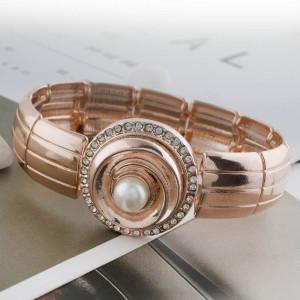 Круглый 20MM из розового золота с жемчужным покрытием KC5706