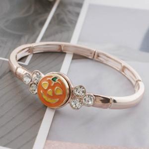 12MM Halloween plaqué or avec émail orange KS6321-S s'encliquette des bijoux