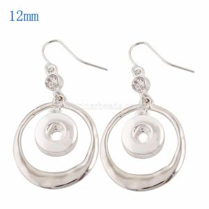 Snaps metal earring with Rhinestone KS0928-S fit 12mm chunks snaps jewelry