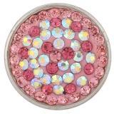 18mm pink Sugar Snaps Alloy mit Strass KB2405-AR Snaps Schmuck