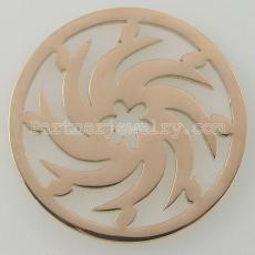 Los encantos de monedas de acero inoxidable 33MM se ajustan a las ruedas de tamaño de joyería