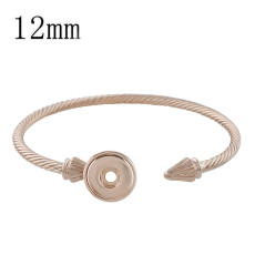 1 buttons snap rose rose gold bracelet fit 12MM snaps jewelry KS1191-S