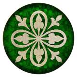 Дизайн 20MM Окрашенная эмаль, металл C5512 принт зеленый