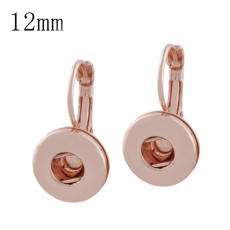 Snap Rose Gold Ohrring Fit 12MM Snaps Style Schmuck KS1144-S