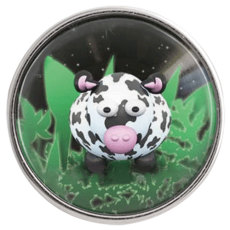 20MM snap glass Cow C0886 broches intercambiables joyas