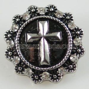 20MM Broche de plata antiguo plateado con diamantes de imitación KB8719 broches de joyería