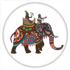 20MM Painted Elephant enamel metal C5763 print snaps jewelry