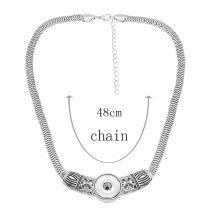 Necklace with 48CM chain KC1309 fit 20MM chunks snaps jewelry