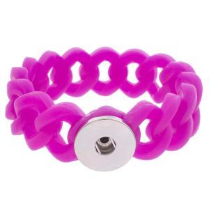 1 Button Silicone Stretch bracelet