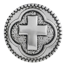 20MM cross snap button Antique Silver Plated KC5530 snap jewelry