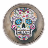 20MM snap glass Skull C0119 broches intercambiables joyería