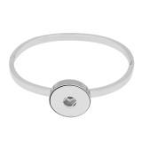 1 boutons mousqueton Bracelet en acier inoxydable avec des bijoux KC0817