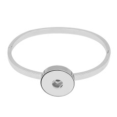 1 buttons snap sliver Stainless steel Bracelet with  snaps jewelry KC0817