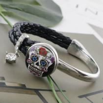 20MM Tête de mort émaillée en métal peint C5408 s'encliquette bijoux