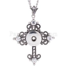 Pendant Necklace with 45CM chain fit 18mm snap chunks