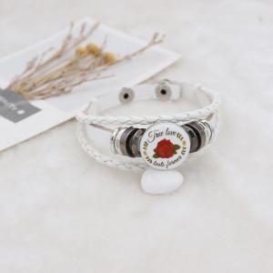 20MM Valentine's day Painted enamel metal C5617 print snaps jewelry