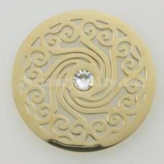 Los encantos de monedas de acero inoxidable 33MM se ajustan a las nubes del tamaño de la joyería con cristal