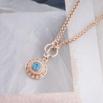 12MM round snap Rose Gold with blue Rhinestone KS8066-S snaps jewelry