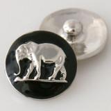 20MM Слон с застежкой, посеребренная эмалью KB6101 защелкивается