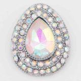Diseño 20MM de plata chapada con diamantes de imitación blancos KC6828 broches de joyería