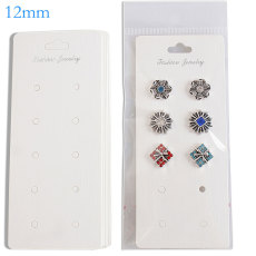 10pcs/set 12.5CM*5.5CM  snap buttons Paper Card Include Plastic Package  Fit 10pcs 12mm snaps