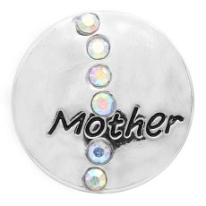 20MM mother snap silver Plated with colorful Rhinestone  KC9091 snaps jewerly
