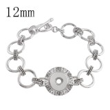19CM 1 buttons snaps metal Bracelets KS1126-S fit 12MM snaps chunks