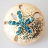 20MM Star snap Chapado en oro con diamantes de imitación KB6225 broches de joyería
