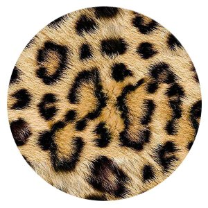 20MM Leopard Print Painted enamel metal C5882 print brown