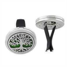 30mm alloy tree car perfume aromatherapy essential oil diffuser breathable air freshener decorative perfume clip Spacer color random hair fit 23mm pads ( xx0104-mix)