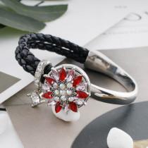 20MM design mousqueton ruban plaqué avec strass rouge KC7573 s'enclenche bijoux