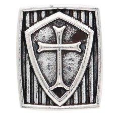 20MM bouton en croix plaqué argent KC6792 s'encliquette bijoux